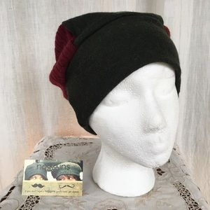 Upcycled handmade repurposed knit mix sweater hat